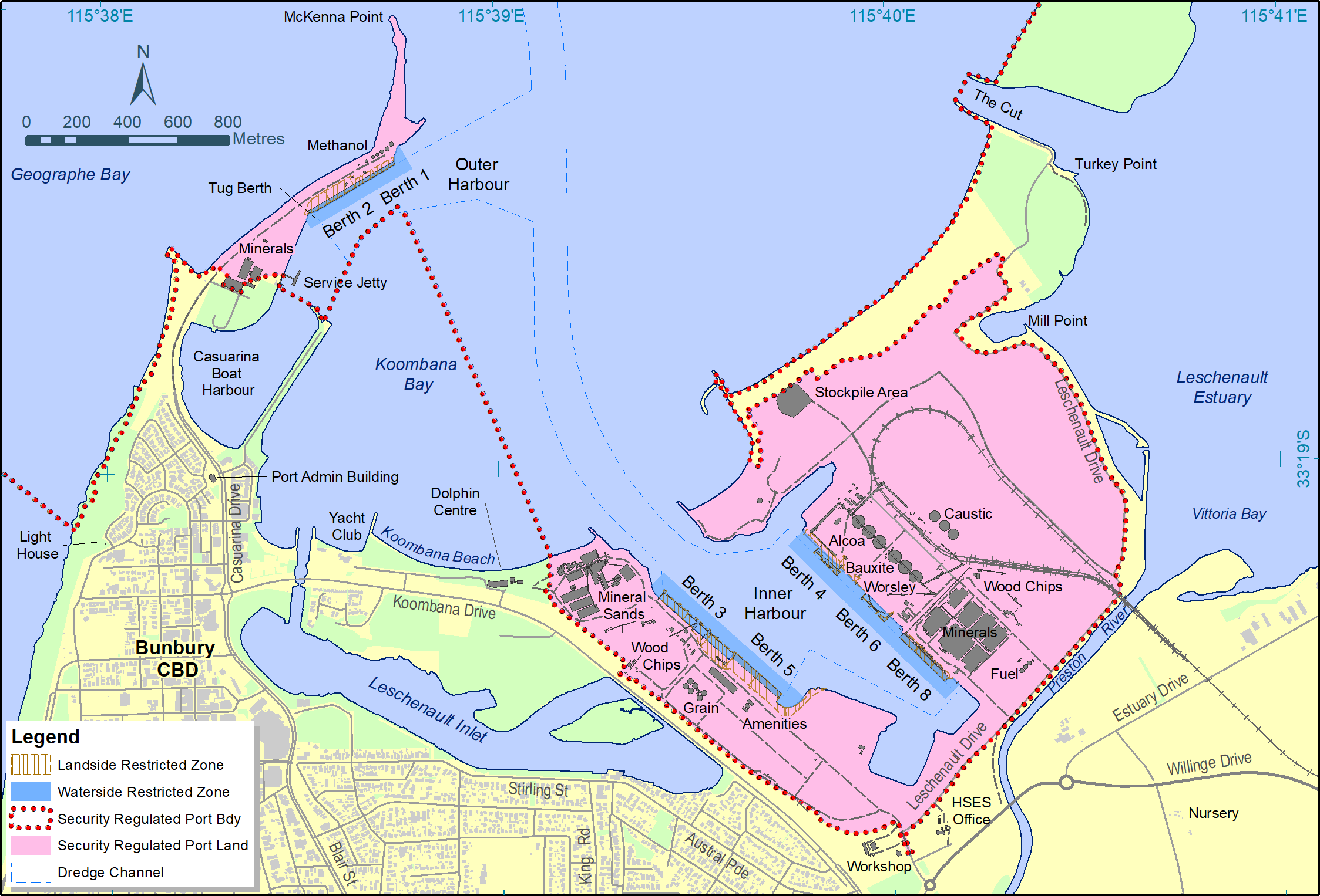 Port of Albany Security Areas