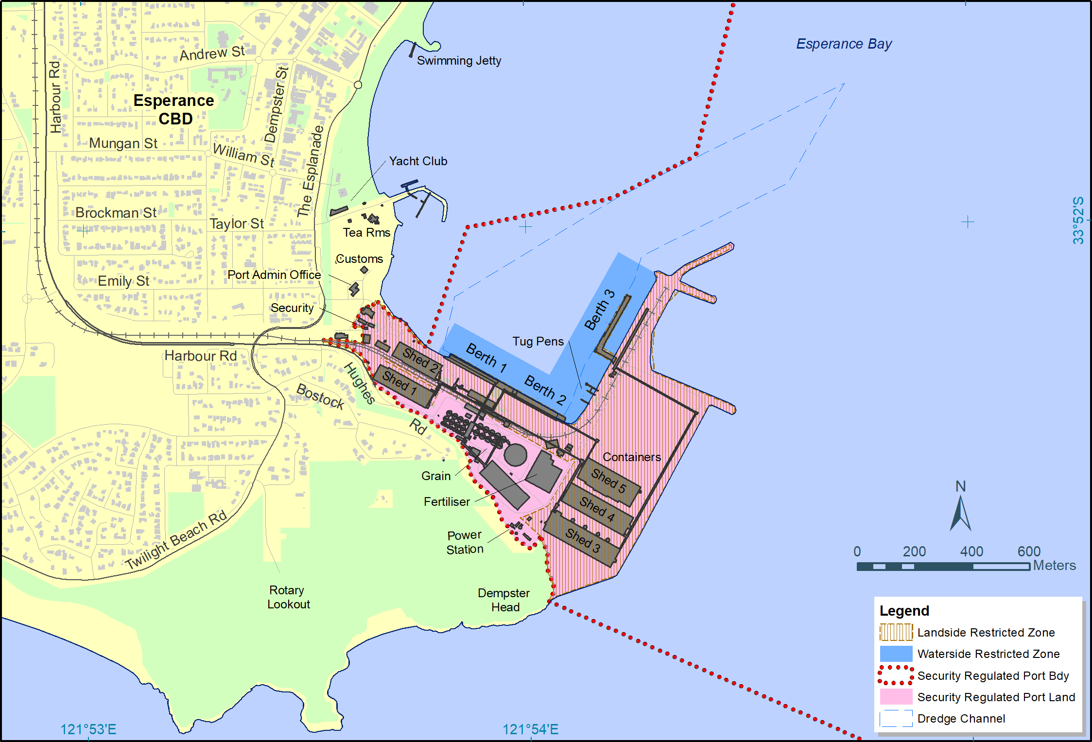 Esperance Port Layout and Security Zones
