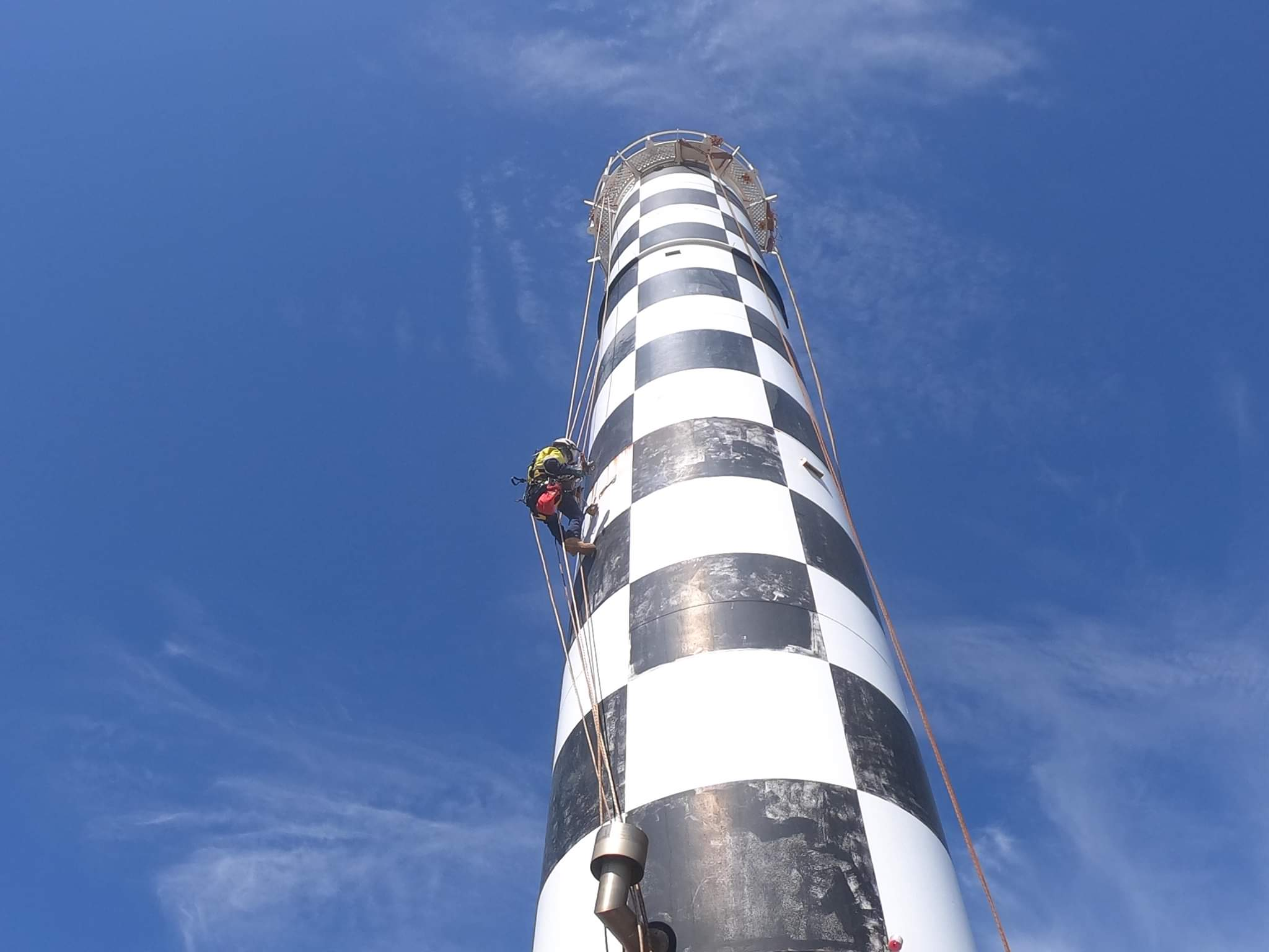 Work being completed on the Bunbury Lighthouse